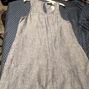 Cynthia Rowley Women's blue linen dress